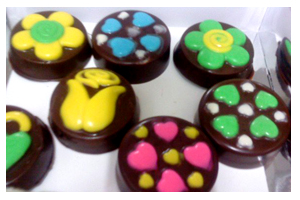 Gambar Coklat Homemade Colourful